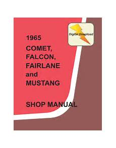 service and repair manuals 1965 ford mustang electronic throttle control 1965 mustang service manual download