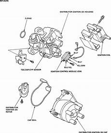 honda civic distributor wiring diagram 1998 honda civic ex start back the ignition coil and rotor it