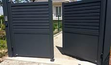 Portail Battant Aluminium Gris Anthracite Ral 7016 Pos 233