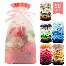 Amazon 50 Pcs Premium Velvet Hair Scrunchies 8 50 Pcs Vintage Hair Scrunchies Velvet Scrunchie Pack Women