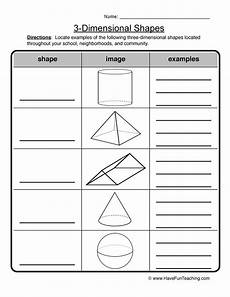 worksheets three dimensional shapes 3 dimensional shapes worksheet have fun teaching