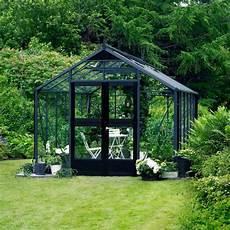 serre de jardin 13m 178 anthracite et verre horticole premium