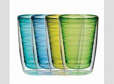 Boston Warehouse Glassware 16Ounce 4Set Color Insulated