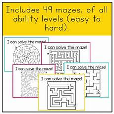 motor skills maze worksheets 20676 motor skills practice mazes by mrs ds corner tpt