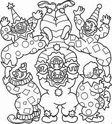 Gratis Malvorlagen Clown Clowns Ausmalbild Malvorlage Kinder
