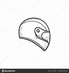 Contour De Dessin 233 S 224 La Pour Le Casque Moto Doodle