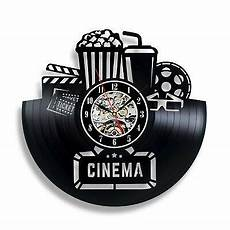 Inch Black Popcorn Wall Clock Theater by Home Theater Cinema Snack Bar Decor Rec Room Popcorn