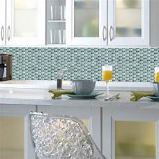Fliesen Mosaik Küche - sticktiles fliesenspiegel mosaik blau spritzschutz