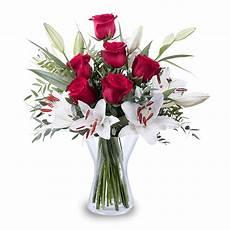 roses rouges et lys blancs livraison 224 domicile floraqueen