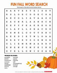 autumn word search worksheets printables scholastic parents