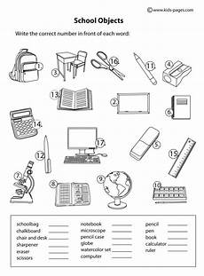 colors and school objects worksheets 12788 school objects matching b w worksheet