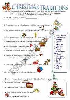 traditions worksheets 15587 traditions esl worksheet by lidukas