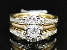 14k yellow gold solitaire jacket guard enhancer engagement wedding band 10mm ebay