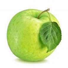 Malvorlage Apfel Mit Blatt Gr 252 Ner Apfel Mit Dem Blatt Lokalisiert Auf Einem Wei 223