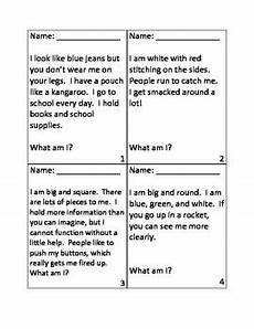 inference riddles for first day of school first day of