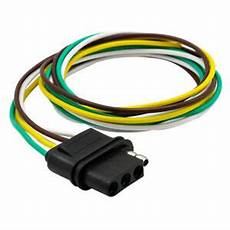 flat wire harness pin car trailer light wiring harness extension 4 pin flat wire connector us ebay