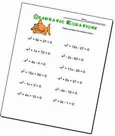 algebra worksheets quadratic equations 8542 quadratic equations worksheets