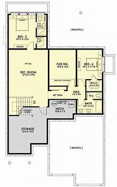 contemporary house plans with walkout basement modern ranch home plan with option for walk out basement