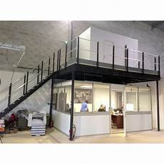 mezzanine industrielle en kit tl 30 mezzanine with l stairs tecrostar