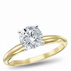 14k yellow gold diamond solitaire engagement ring 1 00 ctw walmart com