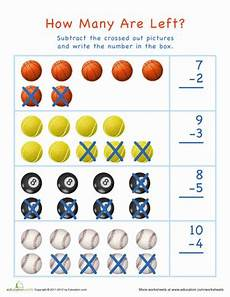 subtraction visual worksheets 10304 sports math worksheet education