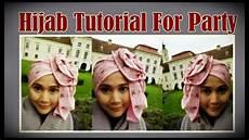 Model Jilbab Segi Empat Tutorial Pesta By