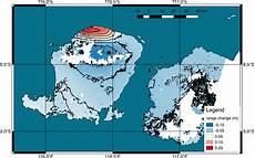 lombok mapking satellite derived map of ground deformation from