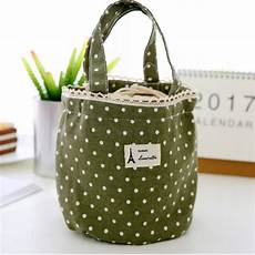 canvas insulation 4 colors waterproof lunch bag travel cing picnic food bags waterproof good
