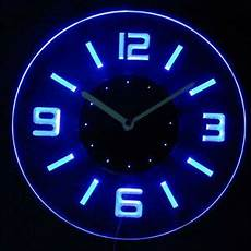 cnc2001 b numerals illuminated wall neon clock sign