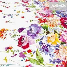 Stoff Mit Ausgefallenem Blumenmuster - jubelis 174 wachstuch blumenbord 252 re i