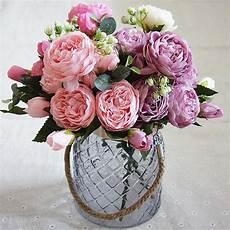 acheter 5 t 234 tes pivoine artificielle fleurs de