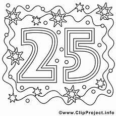 Malvorlage Geburtstag Zum Ausdrucken Bild Zum Ausmalen Zum 25 Geburtstag