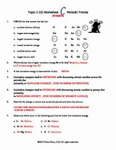 topic 1 periodic trends worksheet c answers by chez chem tpt