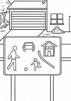 Malvorlagen Verkehrsschilder Html Verkehrszeichen Verkehrsberuhigter Bereich Kostenlose
