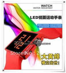 free shipping 12pcs lot new arrived led mirror 15 meters waterproof tvg watch with original box