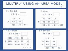 multiplication worksheets using area model 4625 4th grade number activities