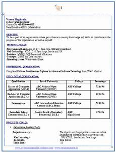 resume format of bca resume format resume format download for bca
