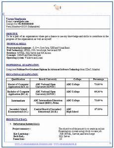 resume format download for bca resume format resume format download for bca