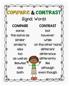 compare and contrast compare contrast 3rd grade