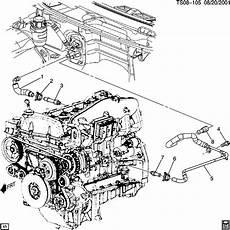 2007 chevy trailblazer engine diagram 15009398 chevrolet hose heater wholesale gm parts