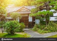 Japan Haus Garten Zen Stil Traditioneller Asiatischer