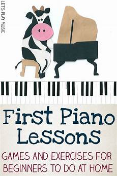 free first beginner piano lessons to do at home