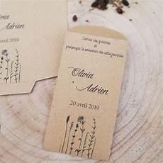 Mariage Sachets Pour Graines Papier Kraft Quot Fleurs Des