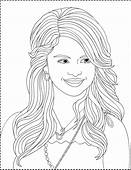 Selena Gomez Kids Coloring Sheets Long Hair 1 Pictures