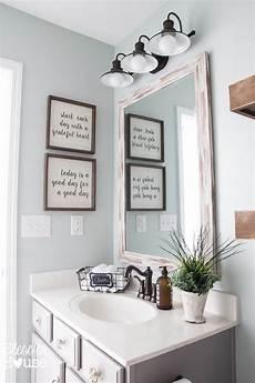 bathroom home decor modern farmhouse bathroom makeover reveal