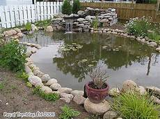 step by step on how to build a small pond or