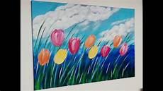 einfach malen blumen acrylmalerei easy painting flowers