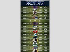dallas cowboys 2020 preseason schedule