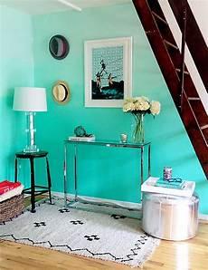 aqua wall paint colors color crush aqua updated shelf styling