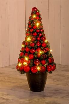 christbaum flach rot 60 cm hoch mit led beleuchtung